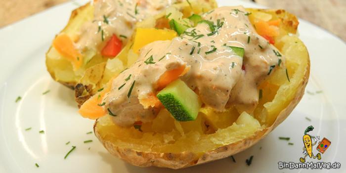 Türkische Kumpir - gefüllte Kartoffeln