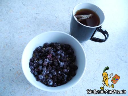 Blaubeermuesli zum Frühstück