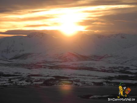 Sonneuntergang in Tromso