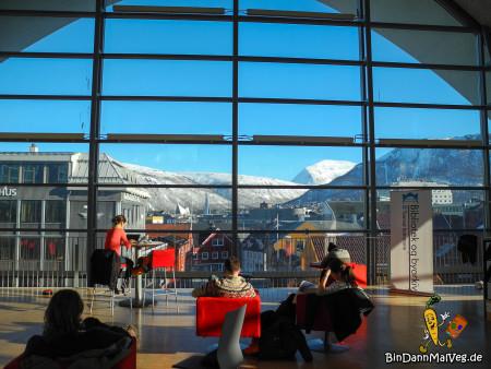 Aussicht aus der Stadtbibliothek Tromso