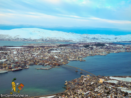 Definitiv keine hässliche Stadt - Tromso von oben