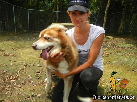 Alexandra mit Hund