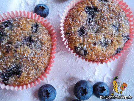 Vegane Blaubeer-Kokos-Muffins