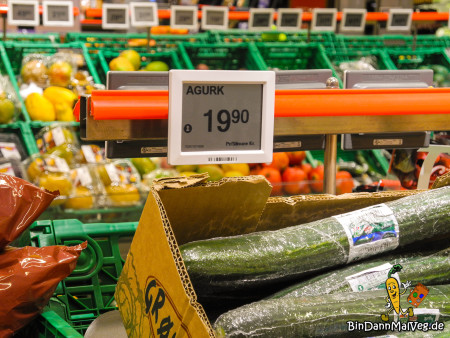 Teure Preise in Norwegens Supermärkten