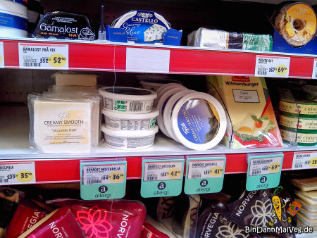 Vegane Käsealternativen im Supermarkt
